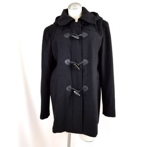 Company by Ellen Tracy Size XL Black Jacket Hooded